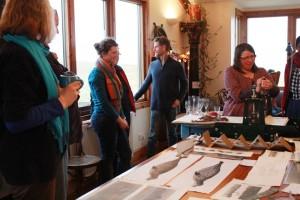 demo of printing press at exhibition
