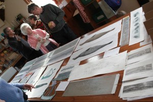 table top exhibition for residents of Iona at end of my stay